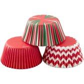 Wilton Cupcake vormpjes Kerst assorti pk/75