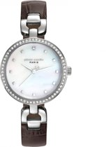 Pierre Cardin PC108172F01 - Horloge - Leer - Roestvrij staal