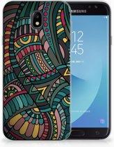 Samsung Galaxy J7 2017   J7 Pro TPU siliconen Hoesje Design Aztec