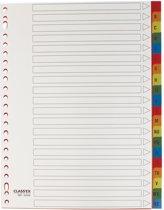 Class'ex tabbladen  A-Z formaat A4 23-gaatsperforatie PP gekleurde tabs
