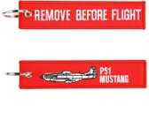 "Sleutelhanger ""Remove Before Flight & P-51 Mustang"""