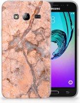 Samsung Galaxy J3 2016 TPU Hoesje Design Marmer Oranje
