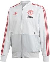 Adidas Manchester United Trainingsjack Heren - Grijs - Maat M