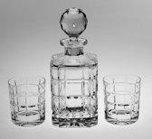 Kristallen whisky set Timesquare 3 delig