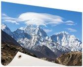 Uitzicht op de Himalaya Tuinposter 200x100 cm - Tuindoek / Buitencanvas / Schilderijen voor buiten (tuin decoratie) XXL / Groot formaat!