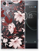 Sony Xperia XZ Premium Uniek TPU Hoesje Watercolor Flowers