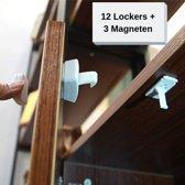 Baby Veiligheid Magneten 12 Magneet sloten + 3 Magneet sleutels - Kinderveiligheid slot - Deur & kast beveiliging - Magneetslot deur - Magneetsloten keukenkastjes - Deur beveiliging kind - Geen schroeven nodig - Beveiliging set