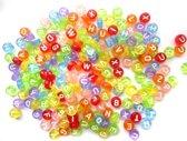 100 Ronde Letter kralen voor armbanden. - A t/m Z Mixed color