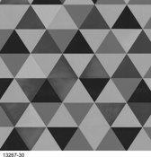 Dutch Wallcoverings Vliesbehang ruit - zwart/grijs