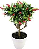 Europalms kunstplant Chili met hoge stam in pot - met pepertjes hoge stam