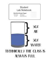 Student Science Lab Notebook Technically The Glass Is Always Full