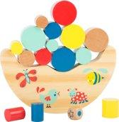 """houten balansspel - """"Lekker bewegen"""" - Multi kleuren - FSC® - Houten speelgoed 3 jaar"""