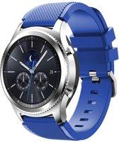 KELERINO. Bandje Voor De Samsung Gear S3 Siliconen polsband - Blauw