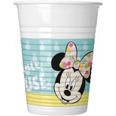 16x Disney Minnie Mouse themafeest bekers/bekertjes 200 ml - Drinkbekers - Kinderfeestje wegwerp tafeldecoraties