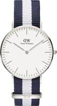 Daniel Wellington Classic Glasgow DW00100047 - Horloge - Nato - Blauw/Wit - Ø 36 mm