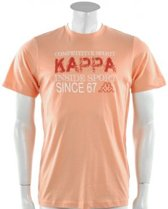 Kappa - Tee K Spirit  - Oranje - Heren - maat  L