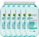 Garnier Skinactive Face Skin Naturals Pure Active Micellair Water - 6 X 400ml - Reinigingswater