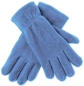Lichtblauwe fleece handschoenen M/l