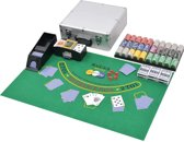 vidaXL Poker/blackjack set met 600 chips aluminium