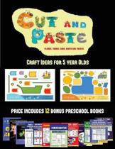 Craft Ideas for 5 year Olds (Cut and Paste Planes, Trains, Cars, Boats, and Trucks)