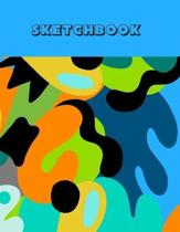 Sketchbook: For Teen Boys 10-12: Large 8.5x11 Inches: 100 Blank Pages For Drawing & Sketching