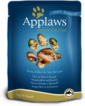 Applaws cat pouch tuna / seabream kattenvoer 70 gr