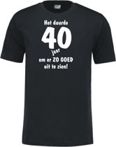 Mijncadeautje - Leeftijd T-shirt - Het duurde 40 jaar - Unisex - Zwart (maat XL)