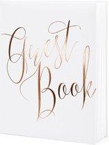 Gastenboek wit rose gold letters