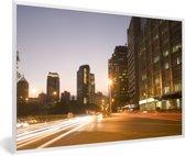 Foto in lijst - Prachtige verlichting in de straten van Manila fotolijst wit 60x40 cm - Poster in lijst (Wanddecoratie woonkamer / slaapkamer)