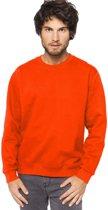 Oranje sweater/trui katoenmix voor heren - Holland feest kleding - Supporters/fan artikelen