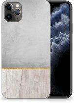 iPhone 11 Pro Max Bumper Hoesje Wood Concrete