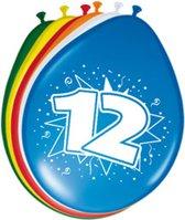 12 Jaar Ballonnen 30cm - 8 stuks