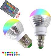 DisQounts - Led verlichting - RGB led lamp - Dimbaar - 16 kleuren - 5W - E27 - Voor de ideale sfeer