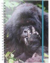 The Comedy Wildlife Notitieboek A4 Gorilla