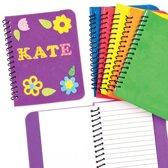 Ontwerp je eigen foam notitieboekjes voor kinderen - schoolset ideaal em cadeau te geven (6 stuks)