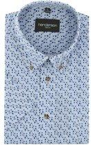 Gcm Henderson regular fit overhemd korte mouw dessin blauw, maat XXL