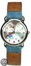 Hello Kitty - Horloge - Textiel - 25 mm - Blauw