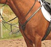 Borsttuig met strass steentjes zwart/zilver Pony