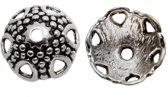Beadcap (7 x 12 mm) 25 Stuks (Antiek Zilver)
