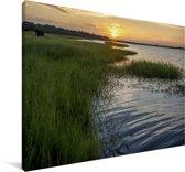 Rivier in het Nationaal park Chobe Canvas 140x90 cm - Foto print op Canvas schilderij (Wanddecoratie woonkamer / slaapkamer)