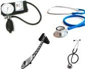 Handmatige bloeddrukmeter high-end PALM type meter met 2 stethoscopen en multi-functionele reflexhamer ST-A214