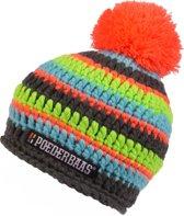Poederbaas Short Colorfull Unisex Muts - Oranje, Groen, Blauw - One Size