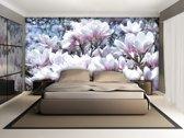 Fotobehang Bloemen, Magnolia   Roze   104x70,5cm