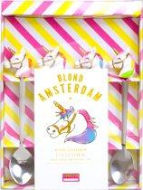Blond Amsterdam Unicorn theelepeltjes - 4 stuks