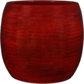 Mica Decorations lester pot rond rood maat in cm: 31 x 33