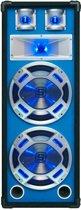 SkyTec Disco Witte Speaker 2x 8 600w Led