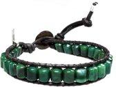Bela Donaco Heren armband Classic Afrikaanse Jade