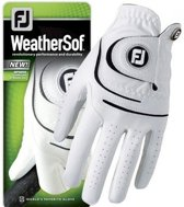 Footjoy WeatherSof heren golfhandschoen, Wit Medium