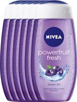 NIVEA Powerfruit Relax - 250 ml - Douchegel - 6 st - Voordeelverpakking