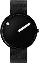 Picto PT43361-1020 Horloge - Staal - Zwart - 40 mm